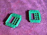 Plasticville Colonial House 2 Green Windows Htf O-s Scale