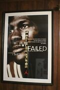 Michael Jordan I Succeed Nike Poster Framed And Matted 29 Inches X 42 Inches