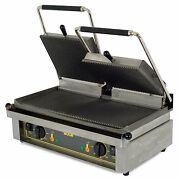 Equipex Majestic 24-inch Countertop Double Electric Panini Grill Culus Nsf