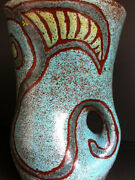 Very Nice Pitcher Mid Century Modern Accolay France Art Pottery Signed Ca 1960and039s