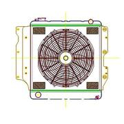 Griffin Radiator And Electric Fans 87-06 Jeep Yj And Tj Man Trans Cu-00169