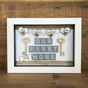 Personalised Box Frame Family New Home First Home Scrabble House Warming Gift