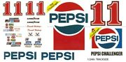 11 Darrell Waltrip Pepsi 1/24th - 1/25th Scalewaterslide Decals