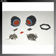 Deutsch Hdp20 47-pin Genuine Bulkhead Connector And Ring Kit 14and20 Awg Contacts