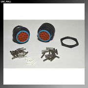 Deutsch Hdp20 16-pin Genuine Bulkhead Connector And Ring Kit 12-14awg Contacts Usa