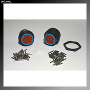 Deutsch Hdp20 31-pin Genuine Bulkhead Connector And Ring Kit 14 Awg Contacts Usa