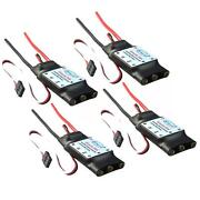 4pcs Simonk 30a Esc Brushless Speed Controller 3-4s For Rc Quadcopter F450 S500
