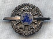 Scarce 1940s Pan Am Airways Paa Mechanics Badge In Sterling By Balfour