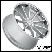 22 Blaque Diamond Bd23 Silver Concave Wheels Rims Fits Cadillac Cts V Coupe