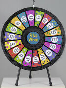 18 Slot Table Top Prize Wheel Game With Case Great For Trade Shows Events