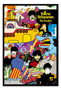 The Beatles Yellow Submarine Framed Cork Pin Notice Board With Pins