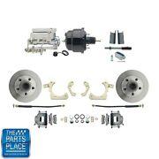 1955-58 Gm Full Size Disc Brakes W/ 8 Dual Powder Coated Aluminum Conversion