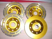 12 Piece 4-1/2 Inch Diamond Cup Grinding Wheel Surface Concrete Stone Smoothing