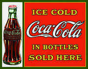 Coke - Sold Here In Bottles Classic Vintage Reproduction 1047 Mancave