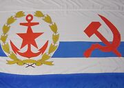Soviet Navy Flag Ussr Armed Forces Chief Of Staff 1985 Super Rare Huge 6.5andrsquo X 4andrsquo