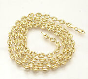 4.7mm Puffed Mariner Anchor Link Chain Necklace Real 14k Yellow Gold