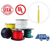 14 Awg Marine Wire Spool Tinned Copper Primary Boat Cable 50 Ft. Yellow Usa Made