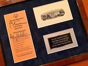 Hillary Clinton + Bill Psa/dna Authentic Autograph Duo Signed President