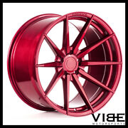 20 Rohana Rfx1 Red Forged Concave Wheels Rims Fits Bmw E60 528 530 535 545