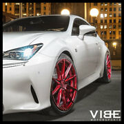 20 Rohana Rfx1 Red Forged Concave Wheels Rims Fits Lexus Is250 Is350