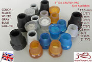 Waliking Stick Cane Crutch Rubber Pad Metal Ferrules End/bottom Protector Tip