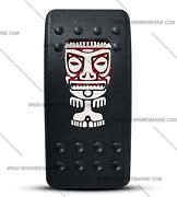 Labeled Contura Ii Rocker Switch Cover Only Tiki Man Red Window