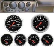 68 Gto Silver Dash Carrier W/ Auto Meter Sport Comp Electric Gauges