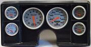 78-81 Chevy G Body Carbon Dash Carrier W/ Auto Meter Ultra Lite Electric Gauges