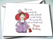 24 Greeting Cards For Red Hat Ladies Birthday Note Cards W/ Envelopes