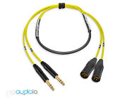 Premium 2 Channel Mogami 2930 Snake | Neutrik Gold Trs To Xlr Male | Yellow 150and039