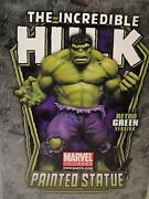 Bowen Signed And Sketched Incredible Hulk Statue Retro Marvel Avengers Grey Red