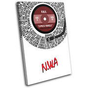 N.w.a. Express Yourself Song Lyrics Record Vinyl Canvas Wall Art Picture Print