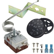 Adjustable Radiator Fan Thermostat Switch Coolant Temperature Controller Kit