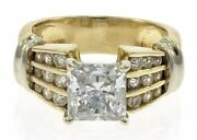 Beautiful Ladies Cubic Zirconia Ring In 14 Kt Yellow Gold
