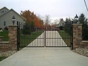 Wrought Iron Double Arch Estate Gates Black In Stock See Notes Below
