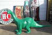 Sinclair Dino 8and039 Foot Cast Aluminum Dinosaur Mobile Texaco Gulf Gas And Oil Sign