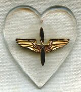 Wwii Usaaf Lucite Sweetheart Pendant