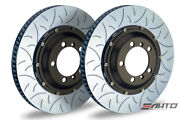 Brembo Front 2pc Rotor Disc 350x34 Type3 Slot 996 Gt2 Gt3 997 Gt3 Gt3rs 06-09