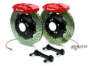 Brembo Front Gt Big Brake 4 Piston Red 328x28 Drill Disc For Acura Cl Ya1 97-99