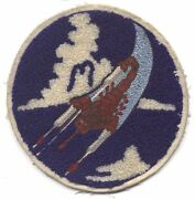 Wwii Usaaf 312th Fighter Squadron 338th Fighter Group 3rd Af Jacket Patch