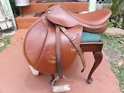 Integrity Equine English Leather Close Contact Saddle With Cover And Riser Pad Kkr