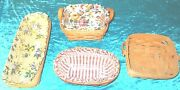 Vintage Longaberger Set Of 4 Hand Woven Baskets Sold As Is 3 With Liners Rgl