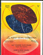 1952 11/27 Burley Bowl Football Program East Tennessee State Vs Emory And Henr