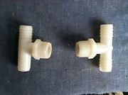 2 Nylon - 5/8 Hose Barb To Male 3/4 Pipe Adapter Garden Hose