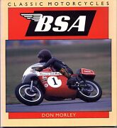 Classic Motorcycles Bsa By Don Morley Used Free Us Shipping