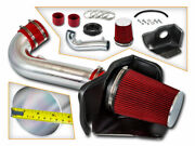 Heat Shield Cold Air Intake System + Red Filter For 11-20 Grand Cherokee 5.7l V8