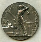 Wwi Service Medal To Am. Car And Foundry Co. Management In Heavy Silver By Gorham