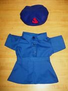 Vintage Mariner Girl Scout Shirt Skirt Beret/cap For 16 Cpk Cabbage Patch Kids