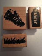 Close To My Heart Ctmh Lot Water Bottle, Cleats, Grass Let's Play Rare Sports