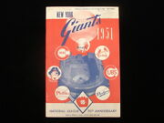 June 3, 1951 St. Louis Cardinals @ Ny Giants Program - Willie Mays Rookie Year